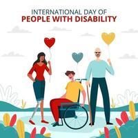 mensen met een handicap vieren vector