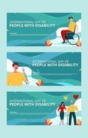 internationale dag van de gehandicapte webbanner vector