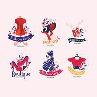 fashion design logo met unieke vorm en kleur vector