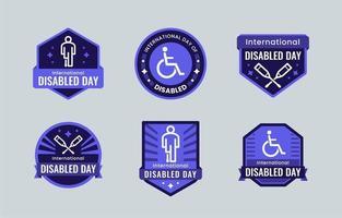dag van gehandicapte labelverzameling vector