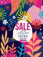 birhgt kleurrijke blad nieuwe verkoop website banner