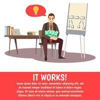 coaching en zakelijke training sjabloon banner vector