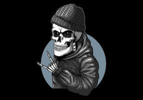 funky schedelkunst die rotsvingers geeft vector