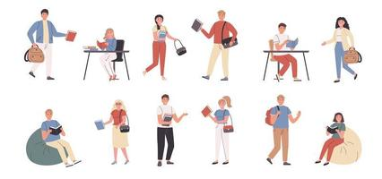 studenten en docenten in de bibliotheek en thuis