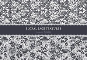 Floral Lace Vector Textures
