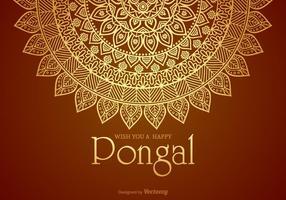 Gelukkig Pongal Vector Card