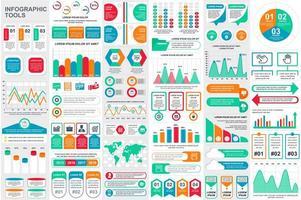 kleurrijke infographic elementen data visualisatie bundel