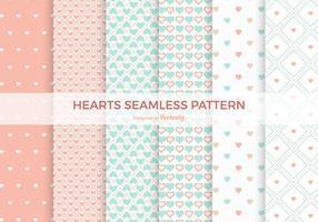 Pastel Heart Naadloze Vector Patterns