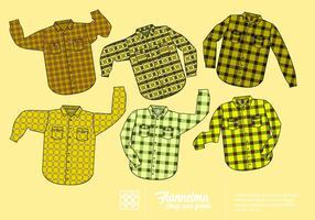 Gratis Geel Flanellen shirt Vector