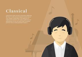 Head Phone Luisteren Classical Gratis Vector