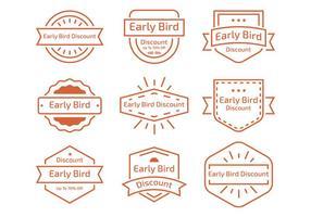 Early Bird Line Label vector