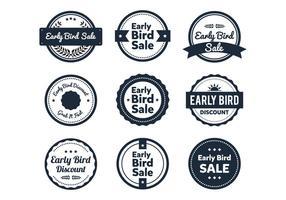 Vroege Vogel Etiket vector