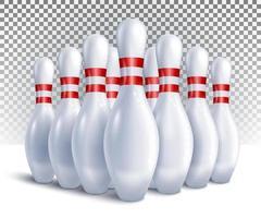 bowling pinnen ingesteld vector