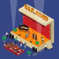 isometrische fase van een VIP-show