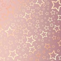 Kerst achtergrond met roze gouden sterren patroon vector