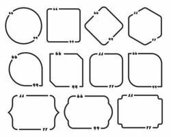 citaat box en toespraak bubble sjablonen set vector