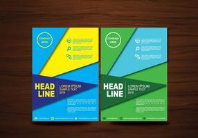 Vector Brochure Flyer ontwerp lay-out sjabloon in A4-formaat