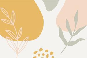 minimalistische organische abstracte achtergrond sjabloon vector