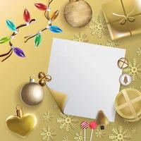 vrolijk kerstfeest feestelijk ontwerp met kerstversieringen vector