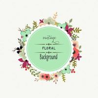 Floral frame ontwerp