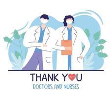 mannelijke en vrouwelijke arts met medisch rapport