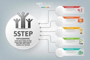 hoe succes zakelijke infographic