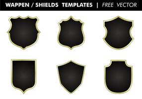 Wappen & Shields Templates Gratis Vector