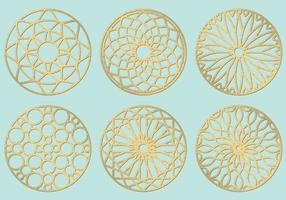 Laser Cut Circles vector
