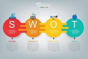 swot-analyse zakelijke infographic