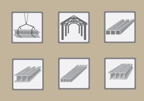 Stalen balk constructie Illustratie Vector