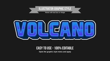 modern blauw gaming lettertype bewerkbaar teksteffect vector