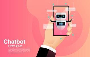 chatten met het concept van de mobiele chatbot