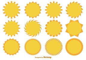 Vector Cartoon Flat Suns Collection