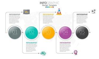 infographics voor bedrijfsconcept met pictogrammen