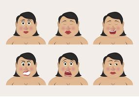 Curvy Vrouw Emoticons