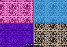 Muziek Violin Key Icon Seamless Colorful Patterns vector