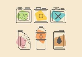 Kleurrijke Oil Can Vectoren