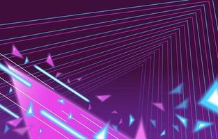 neon perspectief landschap achtergrond vector