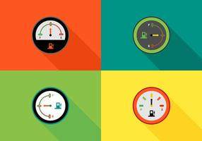 Gratis Kleurrijke Brandstofmeters Vector