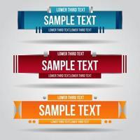 onderste derde rood, blauw en oranje ontwerp