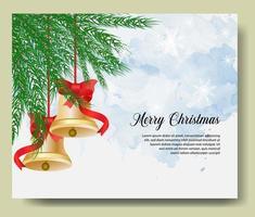 kerst wenskaart met klokken vector