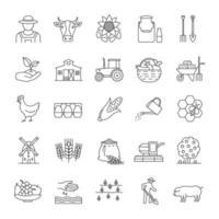landbouw pictogrammen instellen vector