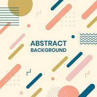 abstracte memphis geometrische retro achtergrond