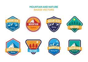 Gratis Mountain and Nature Badge Vectoren