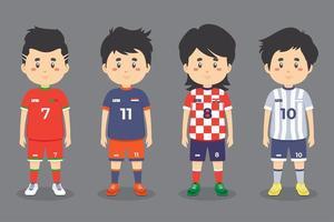 mannelijke voetbal tekenset