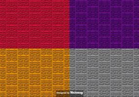Vector 3D Dubbele Symbool van het Geluk Seamless Patterns