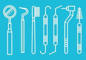 Gratis Dentista Hulpmiddelen vectoren
