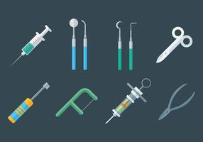 Diverse Dentista Icons Vector