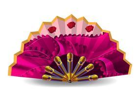 Roze Spaanse Fan Vector