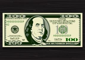 100 dollar rekening vector